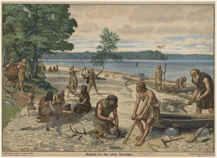 Anskuelsestavle, ældre stenalder