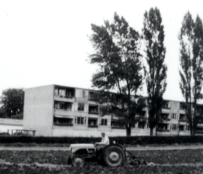 Hørsholm billeder Traktor ved Opnæsgård ca. 1960.
