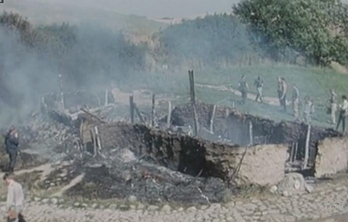 Fig. 3 Nedbrændt jernalderhus i Lejre1
