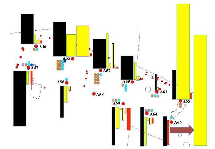 Fig. 5,1 Annines skema på plantegning1