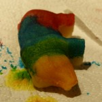 Marcipan gris med farver