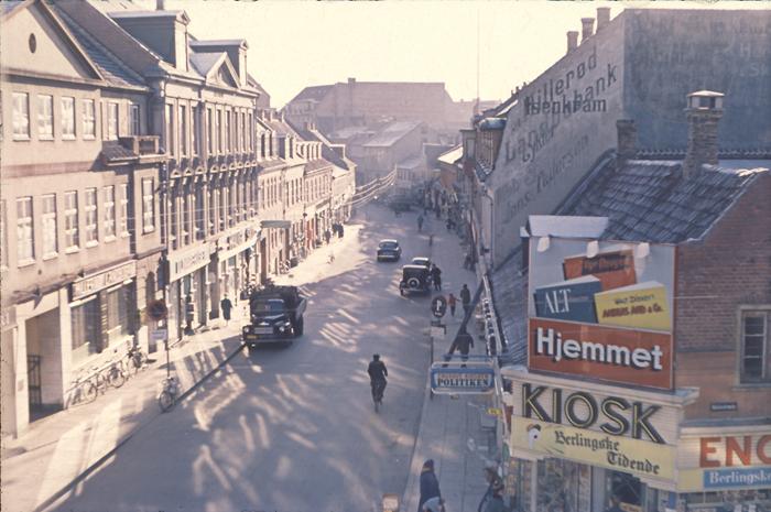 Foto af Slotsgade omkring 1960