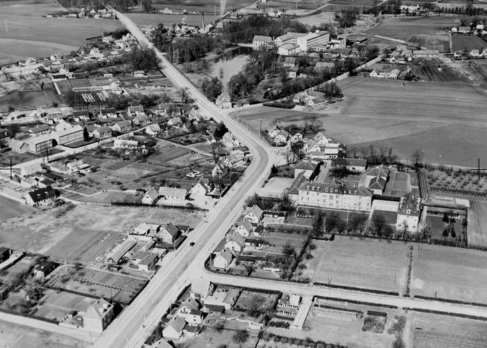 Usserød, overblik, ca. 1950